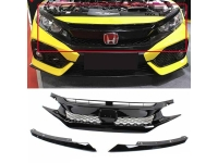 Type R Style Grill ABS Plastic Honda Civic
