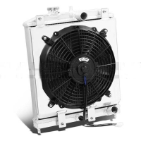 Honda Civic 2 Row Radiator, Fan Shroud 42mm